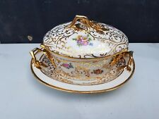 Beurrier décore or  en Porcelaine signé p.dussault Limoges collection