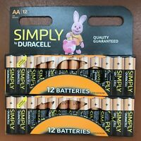 24 Duracell AA Power Alkaline Batteries Economy Pack LR6 MN1500 Battery Long Exp