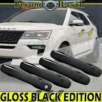 2011-2019 FORD EXPLORER 11-14 Edge GLOSS BLACK Door Handle COVERS w/o smart hole
