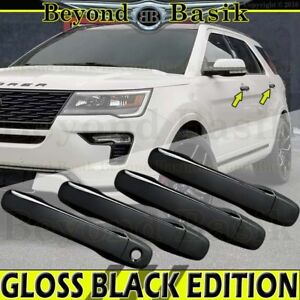 2011-2019 FORD EXPLORER 11-14 Edge GLOSS BLACK Door Handle COVERS w/o smart hole