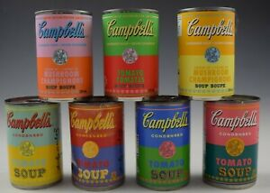 ANDY WARHOL CAMPBELLS SOUP CANS SET OF 7 LIMITED EDITION