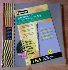 Fellowes All-in-One Report Presentation Kit - 5 Pack