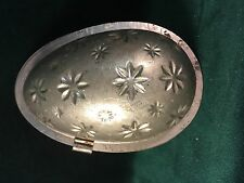 Large Early 2 Pc Easter Egg with Starburst Design Chocolate Mould  ~Tin