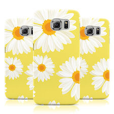 YELLOW DAISY PRINT SUMMER FLORAL FLOWER CASE FOR SAMSUNG GALAXY MOBILE PHONES