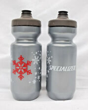 2-Pack New Specialized Purist Cycling Christmas Water Bottles (22oz) Grey