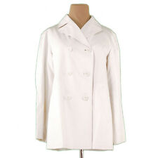 Burberry Coats Jackets White Woman Authentic Used L2216