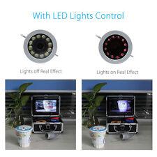 "Eyoyo 7"" LCD 30m Underwater Fishing Fish Finder 12pcs IR LED 1000TVL HD Camera"