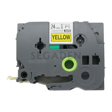 1Pack Black on Yellow Label Tape Compatible for Brother P-Touch TZ TZe 651