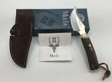 Muela of Spain TECKEL-8A Fixed Skinning Knife DEER ANTLER Handle, Leather Sheath