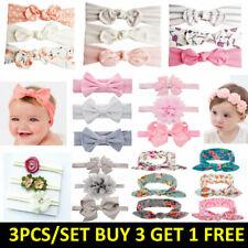 3pcs/Set Baby Kids Girls Bowknot Headband Toddler Elastic Hair Band Headwear Bow