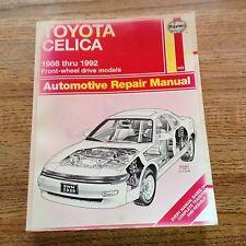 Toyota Celica 1986-1992 Front-Wheel Drive Models Haynes Automotive Repair Manual