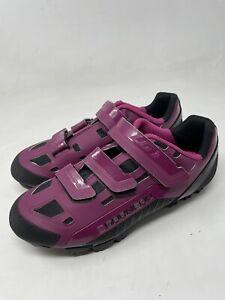 New! Louis Garneau Sapphire Women's MTB Bike Shoe purple Size 39 USA 8