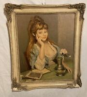 CLAUDINE Vintage Art Print Artist's Wife MCM