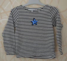 LISA ROSE => T-shirt manches longues rayé blanc bleu 3 ans KDS