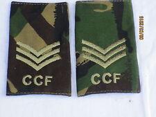 Rango cinghie: sergente, CCF, DPM, Combined Cadet Force, COPPIA, 60x95mm
