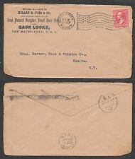 1898 Advertising Cover - Door Locks - Chicago, Illinois - Machine Flag Cancel