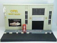 OPEL GARAGE FORECOURT DIORAMA MODEL GERMAN PACKAGED RESIN TYPE BOXED Y0675J^*^