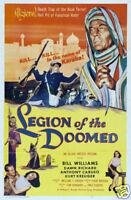 Legion of the doomed Bill Williams vintage movie poster