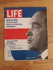 VINTAGE LIFE MAGAZINE ADS JANUARY 1971 BOB HOPE WORLD WAR 1 LEHMAN VIETNAM