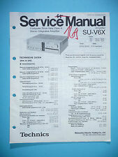 Service Manual für Technics SU-V6X  ,ORIGINAL