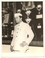 "India press photo of V Shantaram with his awards 4.5"" x 6"""