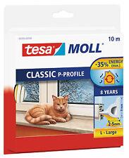 Tesa Moll Tirage d'exclusion - P profil-lacunes entre 2-5mm - blanc - 10m x 9mm