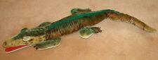 "1960s 26"" STEIFF ALLIGATOR Vintage MOHAIR large plush doll 60s Gator Crocodile"