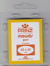 Prinz Black Stamp Mounts Small 22x25 mm For US Regular Issues Vertical 40 Scott
