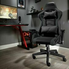 Used X Rocker Faux leather Ergonomic Office Gaming Chair - Black-GBZ113..