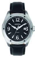 Roamer Stingray Men's Quartz Watch Black Dial Analogue Black Leather Strap