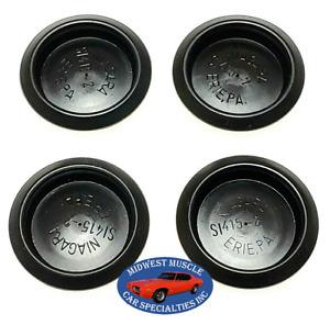 "GM GMC Chevy Pontiac 1 1/2"" Hole Size Plastic Depressed Center Body Plugs 4pc VX"