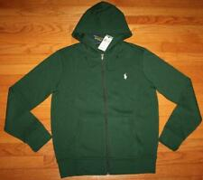 NWT Mens Polo Ralph Lauren Hooded Sweatshirt Hoodie Full Front Zipper Dark Green