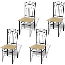 vidaXL Set of 4 Metal Dining Chairs Seat Kitchen Dining Room Office Furniture