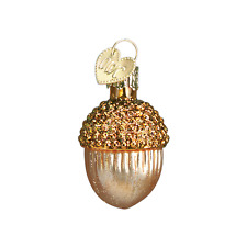 """Small Acorn"" (Light Brown) (28051) Old World Christmas Glass Ornament"
