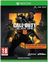 Call of Duty Black Ops 4 IIII Xbox One Specialist Edition NEW Sealed Same Day DI