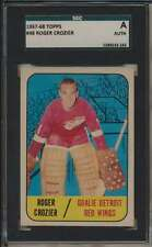 1967 Topps #48 Roger Crozier  Detroit Red Wings SGC A  Authentic 40286