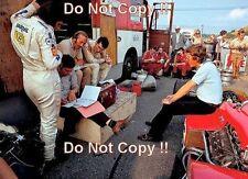 Rindt & Chapman & Fittipaldi & Miles Lotus German Grand Prix 1970 Photograph 1
