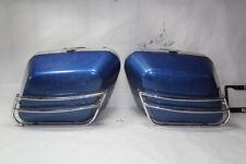 Harley FXRT FXRD saddlebags + chrome guards BLUE FXR FXRP FXRS FXLR EPS18134