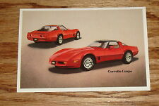 Original 1981 Chevrolet Corvette Coupe Post Card 81 Chevy