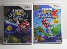 Super Mario Galaxy & Super Mario Galaxy 2 (Nintendo Wii, 2007 2010) COMPLETE