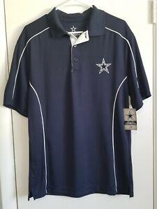 Mens Dallas Cowboys Authentic Polo Style Shirt Size Medium Retail $30