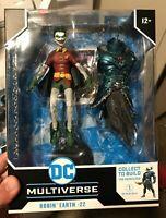 DC Multiverse Robin Smirking Earth 22 McFarlane Merciless BAF Dark Nights Metal