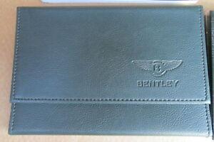 NEW ORIGINAL GENUNE BENTLEY SERVICE HAND BOOK WALLET GREEN LEATHER