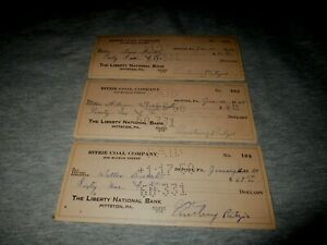 RITZIE COAL COMPANY-200 MCLEAN ST-DUPONT, PA-SET OF 1950 CANCELLED BANK CHECKS