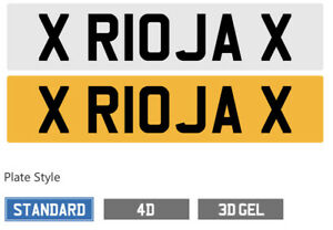Rioja private number plate Ideal For Wine Lover