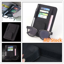 Car Sun Visor Organiser Sunglasses Holder Cards Tickets Storage Leather Pouch