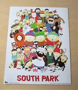 SOUTH PARK POSTER 41 cm x 51 cm von 1999 LAMINIERT RARE VINTAGE AUTHENTIC COMIC