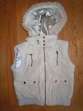L@K! Girls Plugg Corduroy Vest Coat Jacket Zip Up Warm & Toasty Large Hood