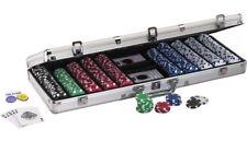 Fat Cat Texas Hold 'em 11.5gram Clay POKER CHIP SET with Aluminum Case 500 Piece