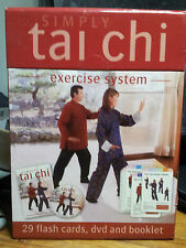 Simply TAI CHI Exercise System DVD Booklet & 29 Flash Cards  New Sealed in box